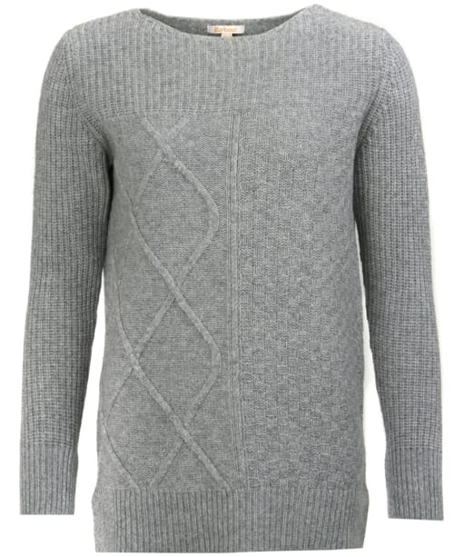 Women's Barbour Carlton Knitted Sweater - Light Grey Marl