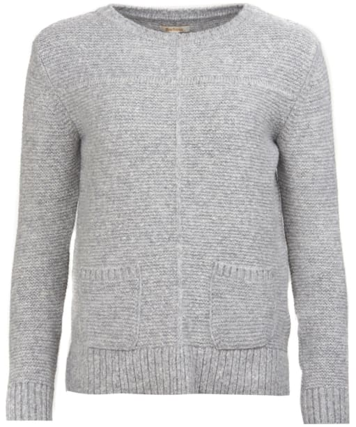 Women's Barbour Malvern Crew Neck Sweater - Light Grey Marl
