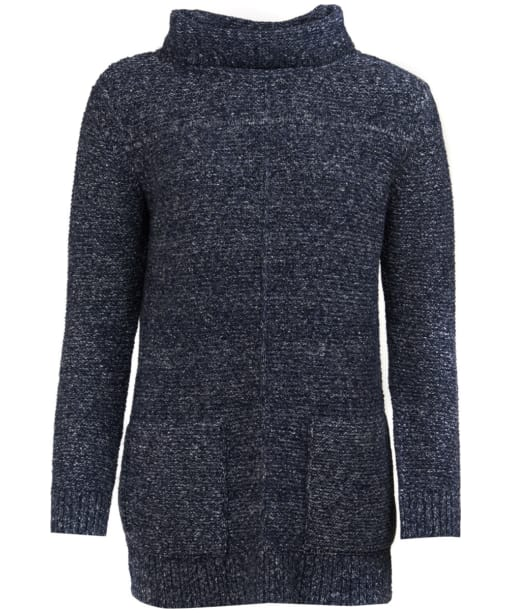 Women's Barbour Malvern Roll Collar Sweater - Navy
