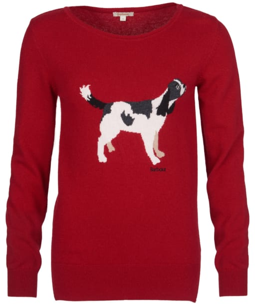 Women's Barbour Hambledon Knitted Sweater - Chilli Red