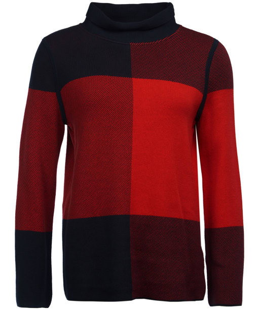Women's Barbour Argyll Knitted Sweater - Navy / Tartan Red