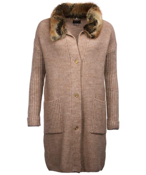 Women's Barbour Lomond Knitted Jacket - Caramel