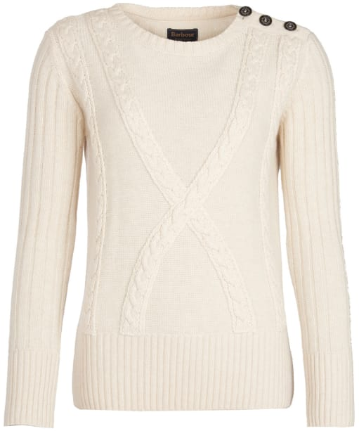Women's Barbour Stirling Crew Neck Sweater - Oatmeal
