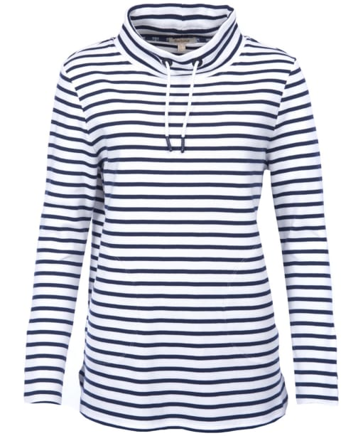 Women's Barbour Southwold Sweatshirt - Navy / White