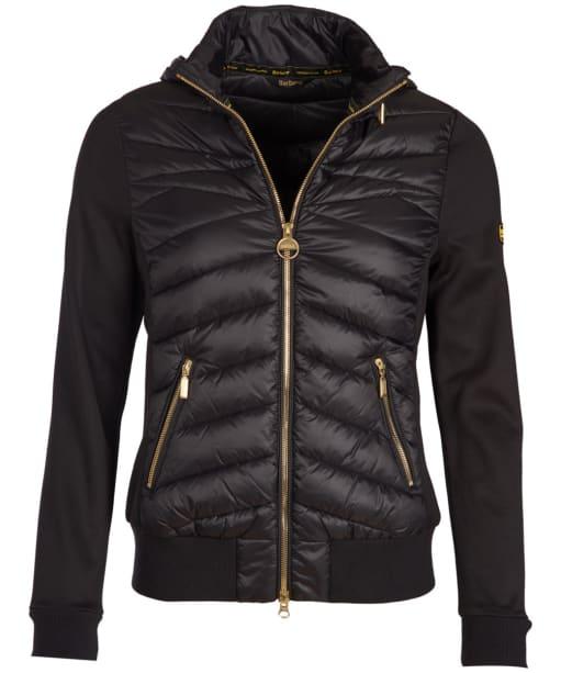 Women's Barbour International Grandstand Sweater Jacket - Black