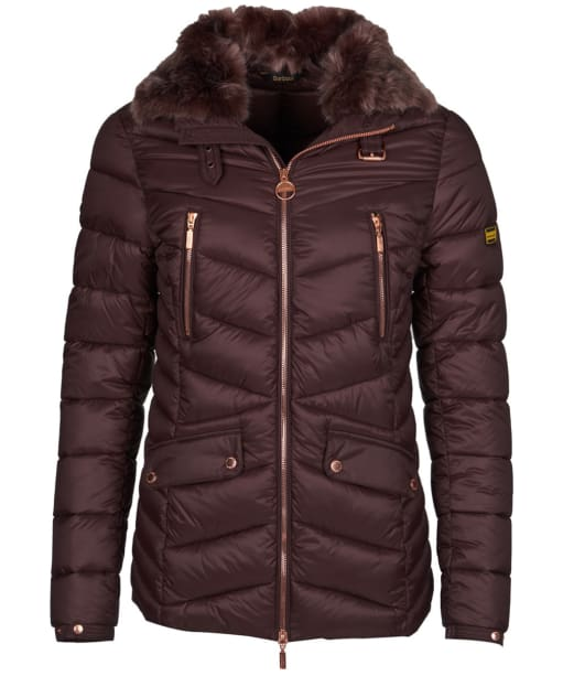 Women's Barbour International Autocross Quilted Jacket - Cocoa