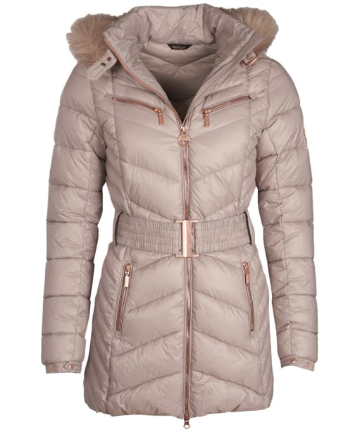 Women's Barbour International Grand Quilted Jacket - Latte