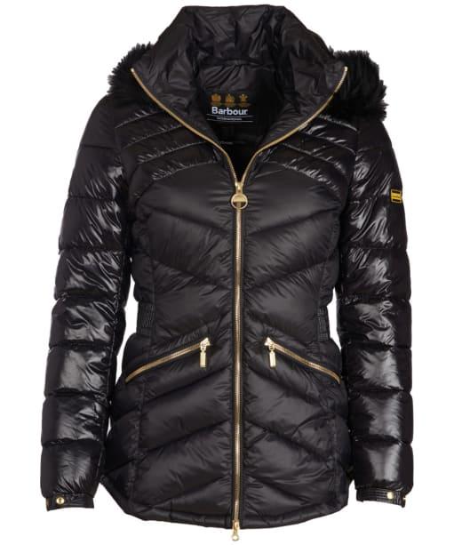 Women's Barbour International Superstock Quilted Jacket - Black