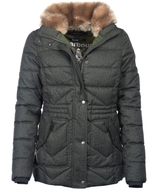 Women's Barbour Langstone Quilted Jacket - Kelp
