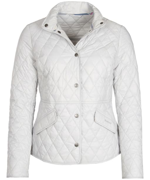 Women's Barbour Annis Quilted Jacket - Ice White