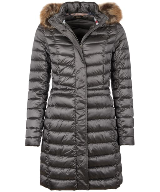 Women's Barbour Bernerary Quilted Jacket - Ash Grey