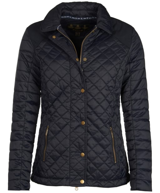 Women's Barbour Quail Quilted Jacket - Navy