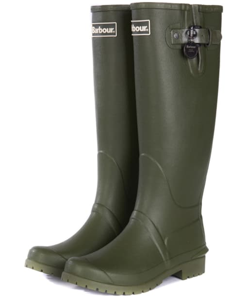 Women's Barbour Battersea Wellington Boots - Front
