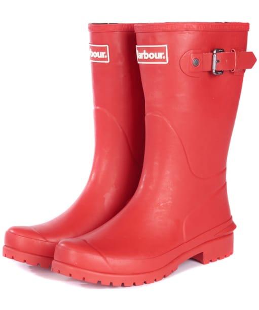 Women's Barbour Primrose Wellington Boots - Tartan Red