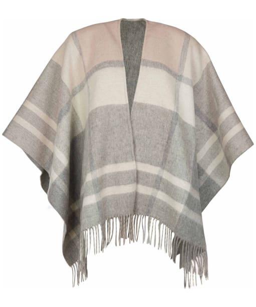 Women's Barbour Aviemore Reversible Serape - Grey / Pink