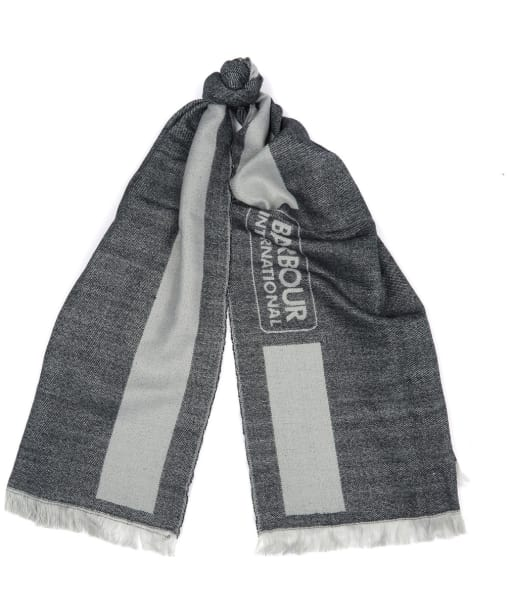 Women's Barbour International Reversible Scarf - Black / Latte