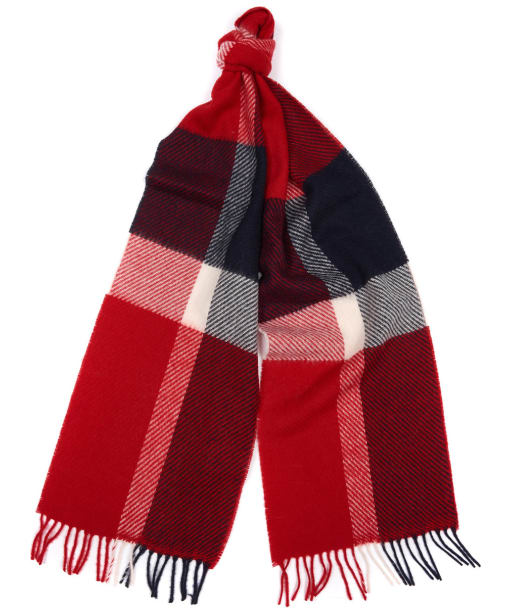 Women's Barbour Hamble Check Scarf - Navy / Red
