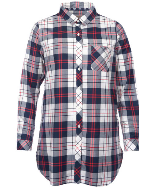 Women's Barbour Sandbank Check Shirt - Navy / White Check