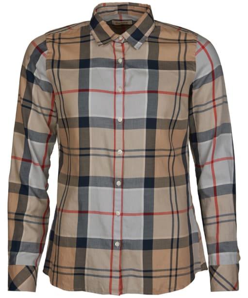 Women's Barbour Bredon Shirt - Caramel Tartan
