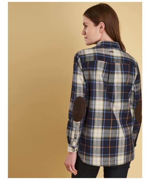 Women's Barbour Ullswater Shirt - Navy / Marmalade