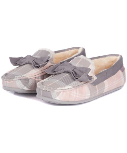 Women's Barbour Sadie Moccasin Slippers - Pink / Grey Tartan