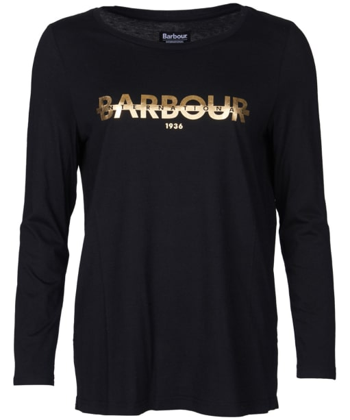 Women's Barbour International Grandstand Tee - Black