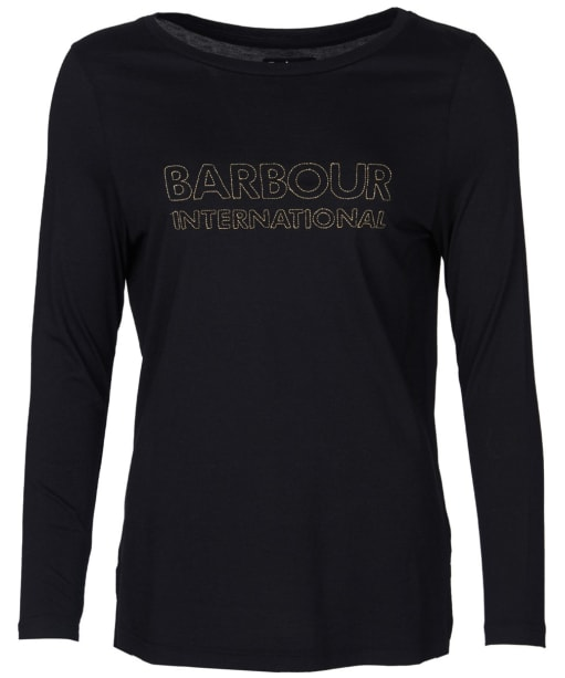 Women's Barbour International Valencia Tee - Black
