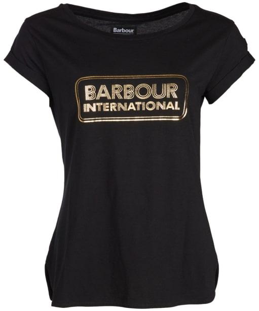 Women's Barbour International Aragan Tee - Black