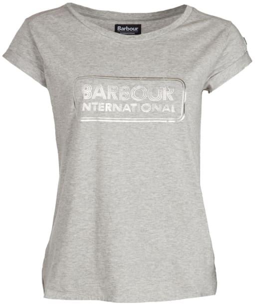 Women's Barbour International Aragan Tee - Light Grey Marl