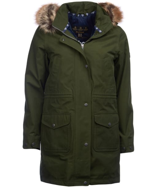 Women's Barbour Ferryside Waterproof Jacket - Kelp