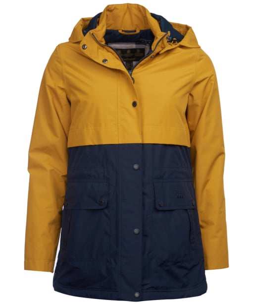 Women's Barbour Altair Waterproof Jacket - Lunar Yellow / Navy