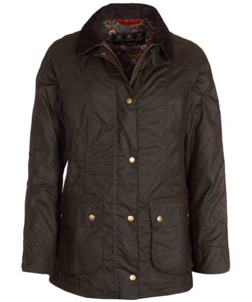 Women's Barbour Abbey Wax Jacket - Olive