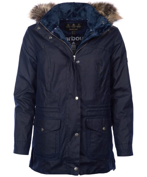 Women's Barbour Southwold Waxed Jacket - Royal Navy