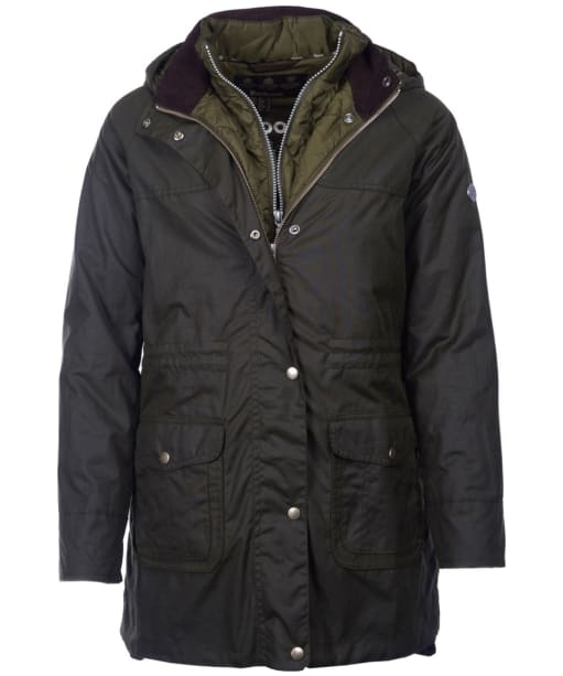 Women's Barbour Mablethorpe Waxed Jacket - Fern