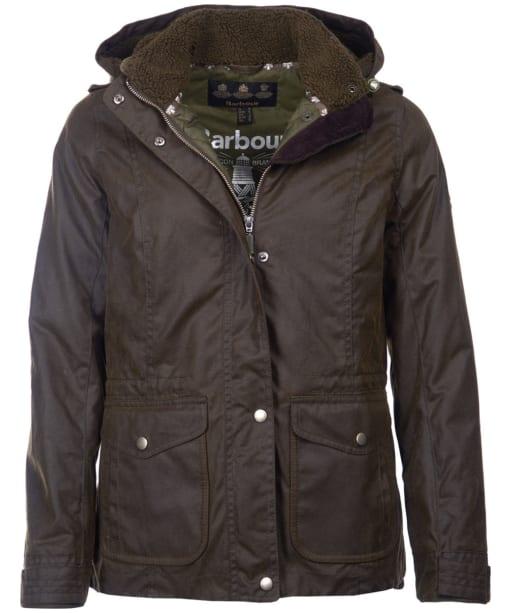 Women's Barbour Hunstanton Waxed Jacket - Olive