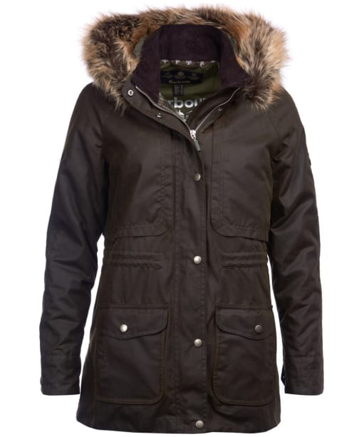 Women's Barbour Ventnor Waxed Jacket - Olive
