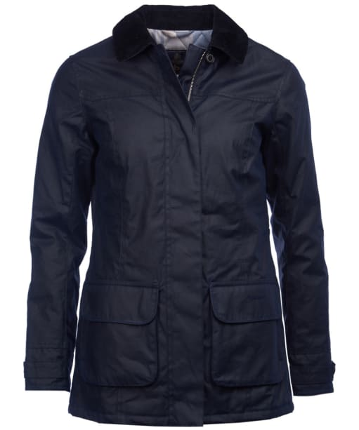 Women's Barbour Balintore Waxed Jacket - Royal Navy