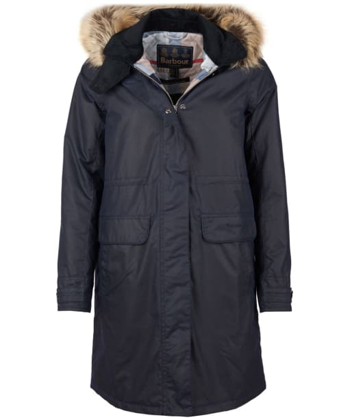 Women's Barbour Galloway Waxed Jacket - Royal Navy