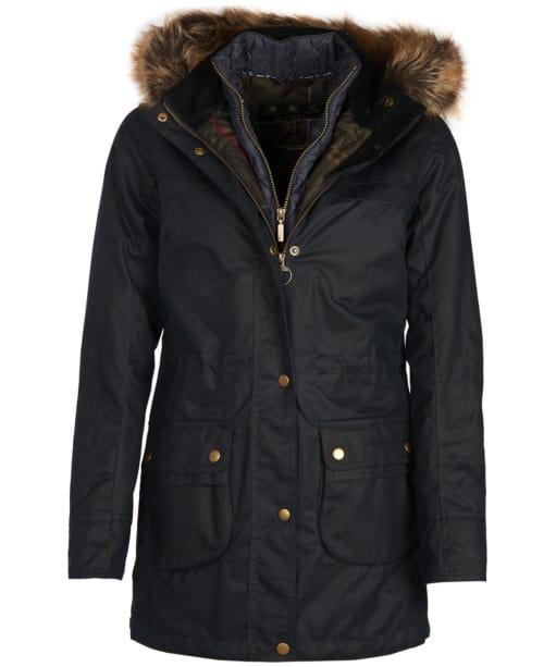 Women's Barbour Dartford Wax Jacket - Navy