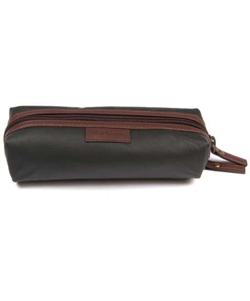 Men's Barbour Drywax Pencil Case - Olive