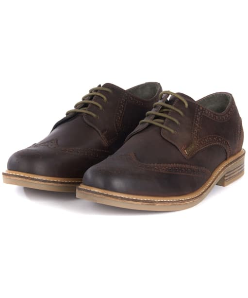 Men's Barbour Bamburgh Brogues - Chocolate