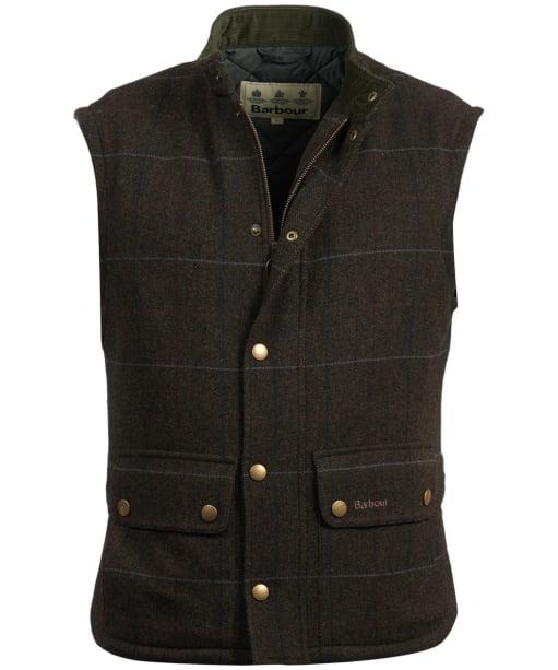 Men's Barbour Wool Lowerdale Gilet - Olive