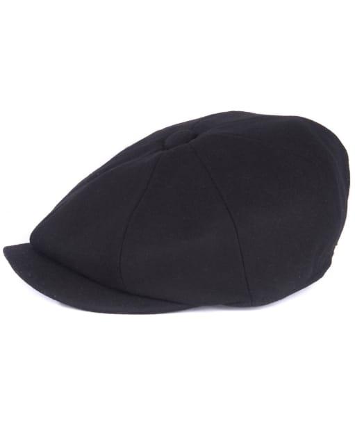 Men's Barbour Redshore Flat Cap - Black
