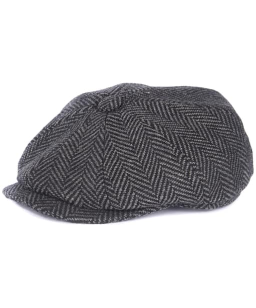Men's Barbour Herringbone Bakerboy Hat - Dark Grey
