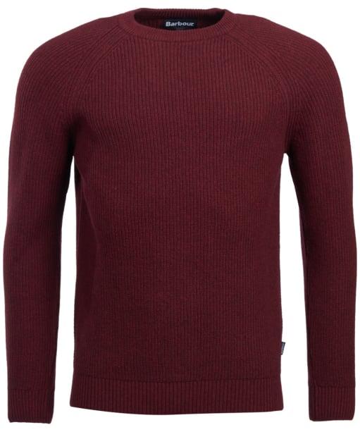 Men's Barbour Manor Crew Neck Sweater - Merlot