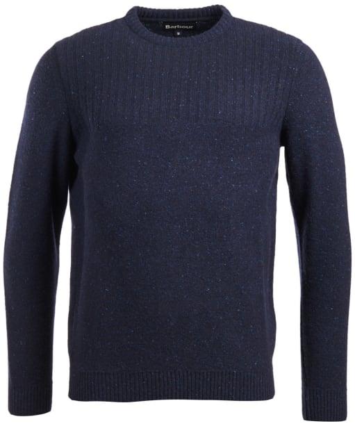 Men's Barbour Tay Nep Crew Neck Sweater - Navy