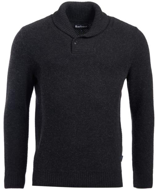 Men's Barbour Honeycomb Shawl Neck Sweater - Graphite