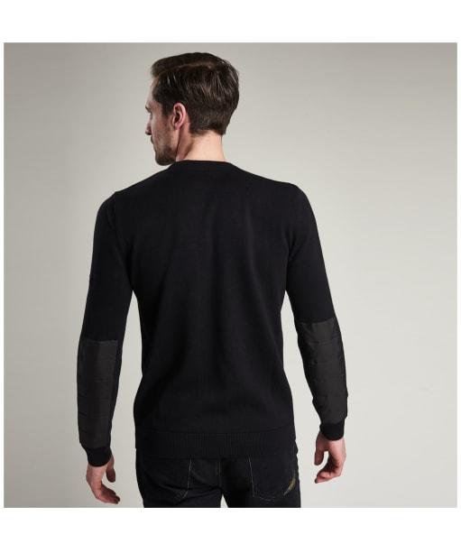 Men's Barbour International Baffle Patch Sweater - Black