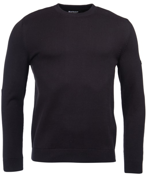 Men's Barbour International Baffle Patch Sweater - Black