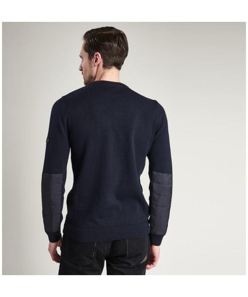 Men's Barbour International Baffle Patch Sweater - Navy